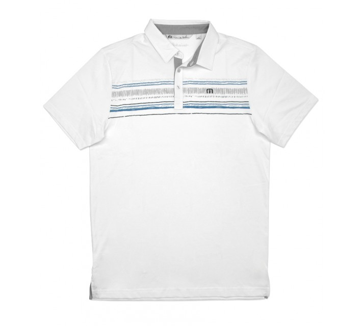 TRAVISMATHEW FAKIE GOLF SHIRT WHITE - SS16