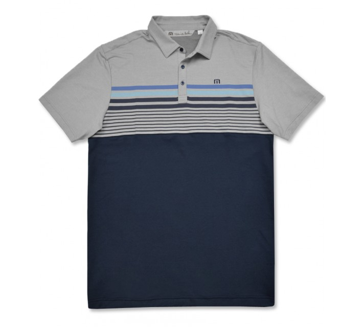 TRAVISMATHEW FEAR OF FLYING GOLF POLO DRESS BLUES - AW16