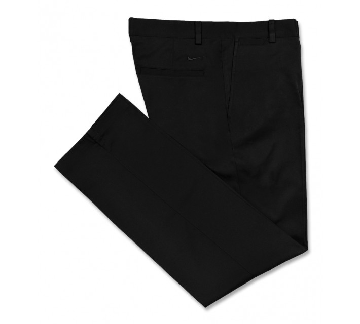 NIKE GOLF FLAT FRONT PANT BLACK - AW16 CLOSEOUT
