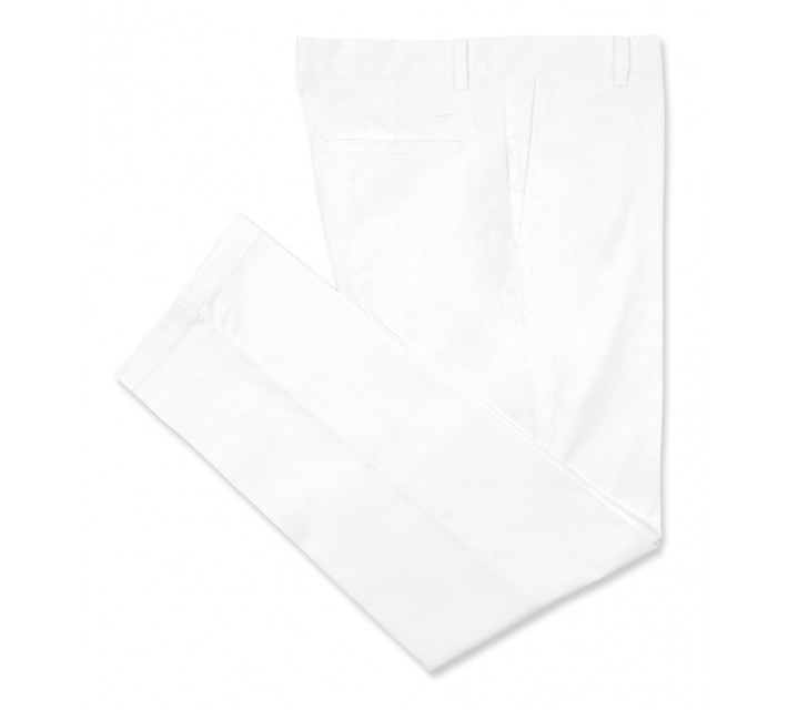 NIKE GOLF FLAT FRONT PANT WHITE - AW16 CLOSEOUT