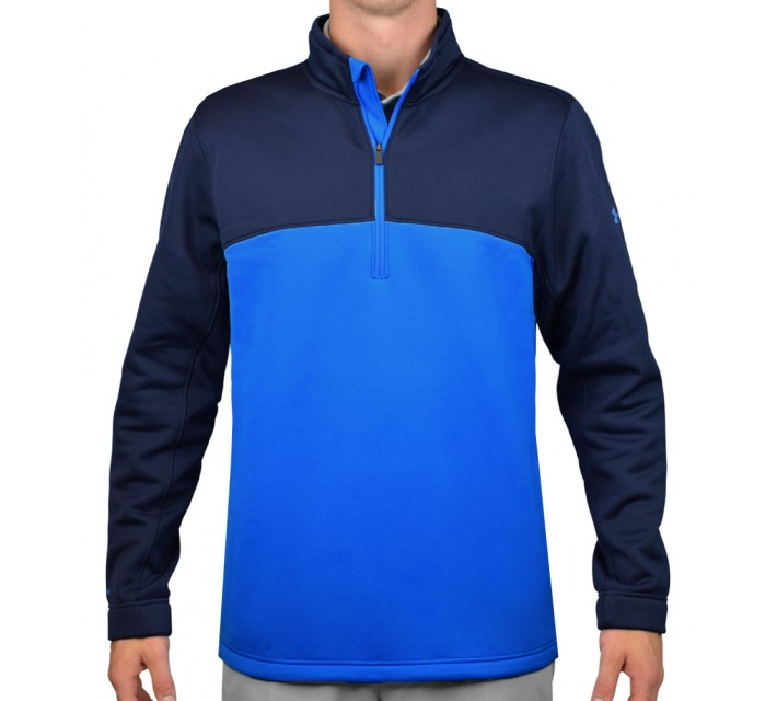UNDER ARMOUR FLEECE INFRARED 1/4 ZIP BLUE JET/ACADEMY - AW15