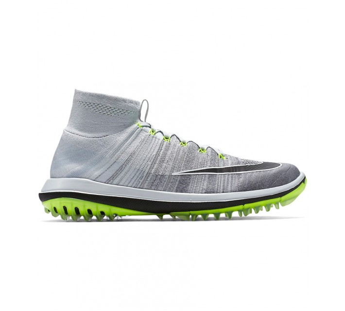 NIKE FLYKNIT ELITE GOLF SHOE PURE PLATINUM - AW16
