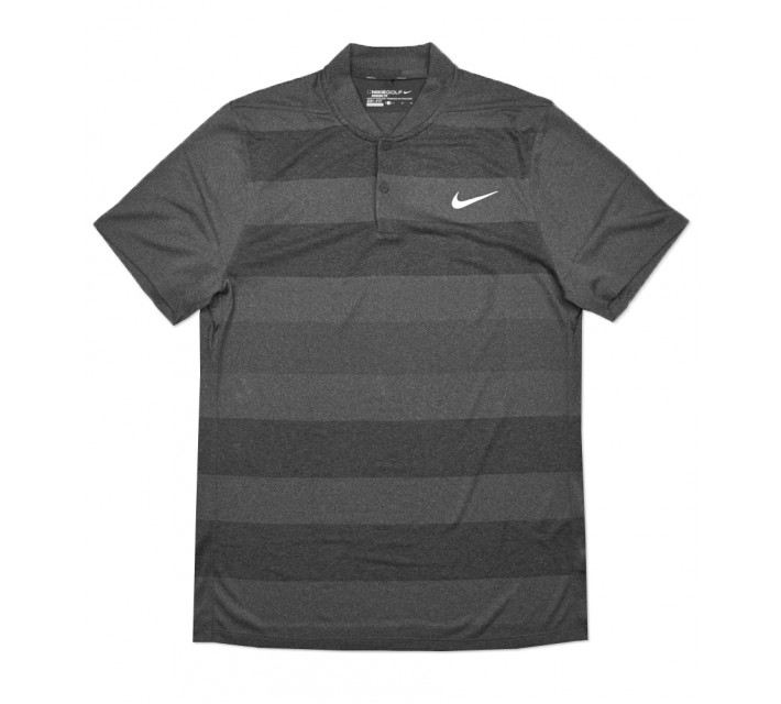 NIKE MAJOR MOMENT FLY SWING KNIT STRIPE BLADE POLO BLACK - SS16 CLOSEOUT