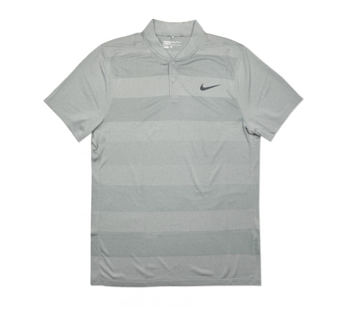 NIKE MAJOR MOMENT FLY SWING KNIT STRIPE BLADE POLO WOLF GREY - SS16 CLOSEOUT