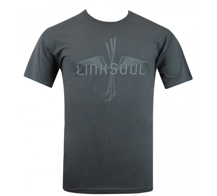 LINKSOUL T-SHIRT FLY TIME DARK GREY - AW15