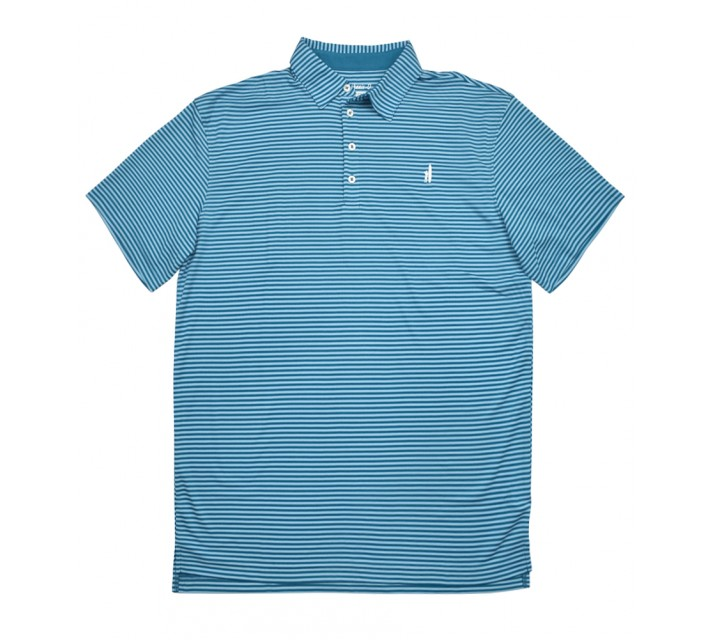 JOHNNIE-O FRINGE POLO LAGUNA BLUE/BONNIE BLUE - SS16