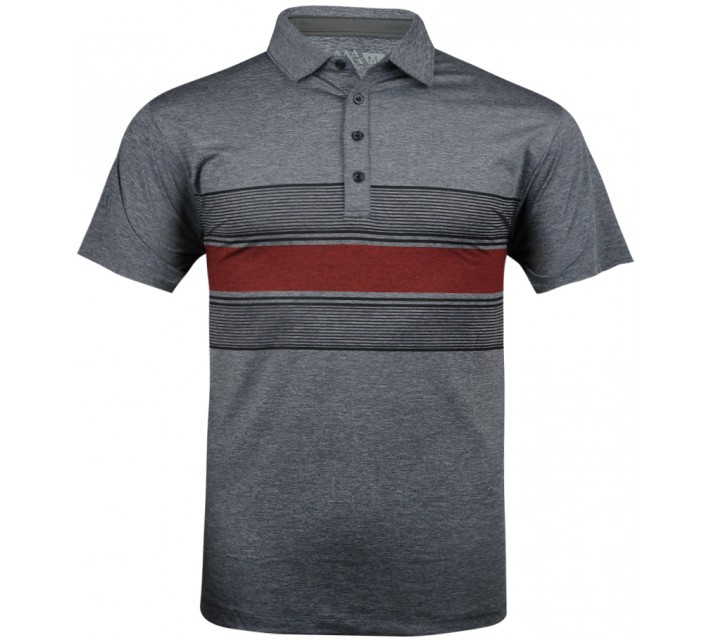 MATTE GREY FUSION POLO GREY HEATHER/RED - SU13