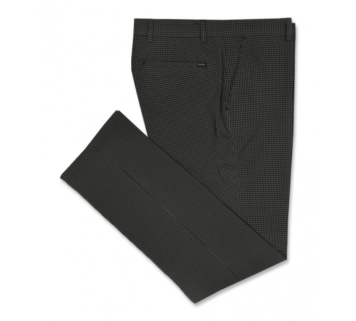 GOLFINO GINGHAM BRUSED TROUSERS BLACK - AW16