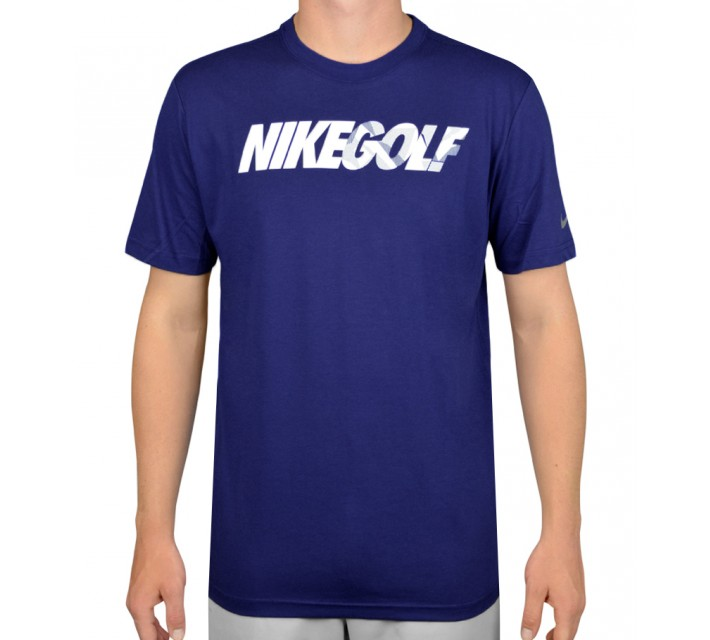 NIKE GOLF CAMO TEE SHIRT DEEP ROYAL BLUE - AW15 CLOSEOUT