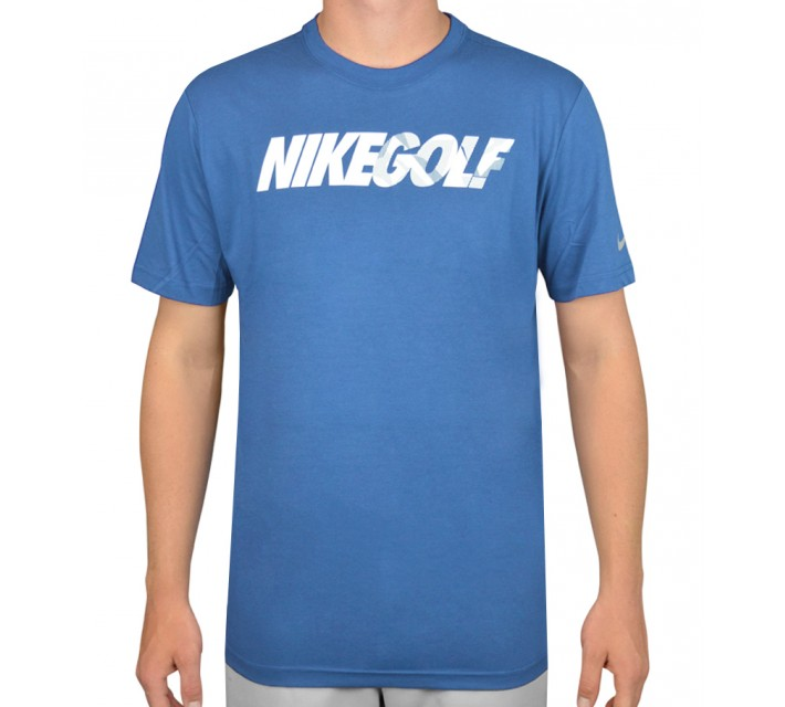 NIKE GOLF CAMO TEE SHIRT LT PHOTO BLUE - AW15 CLOSEOUT