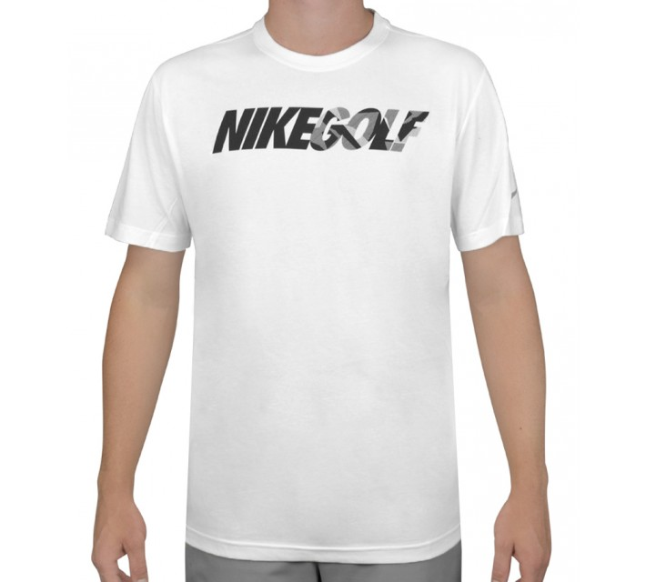 NIKE GOLF CAMO TEE SHIRT WHITE - AW15 CLOSEOUT