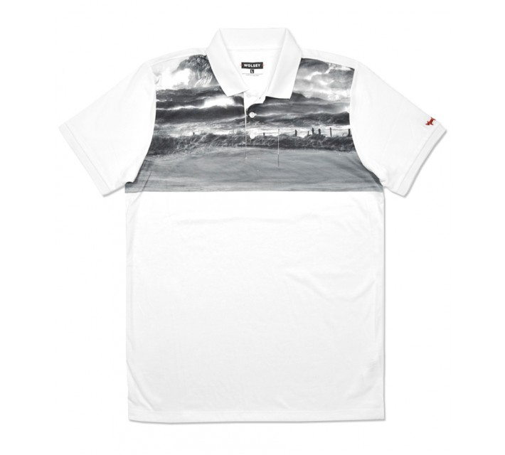 WOLSEY VAR GOLF PRINT POLO WHITE - SS16