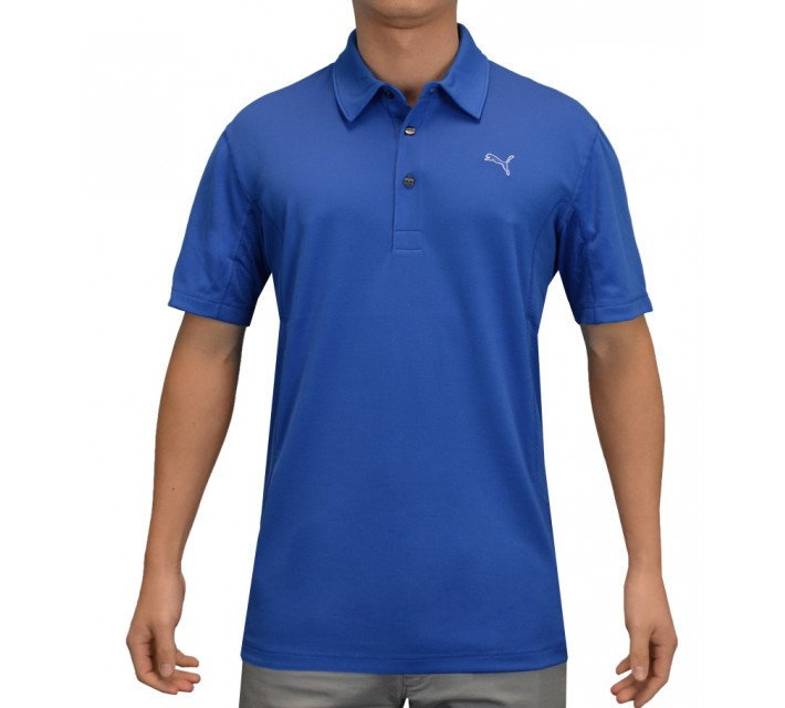 PUMA GOLF TECH POLO STRONG BLUE - AW15
