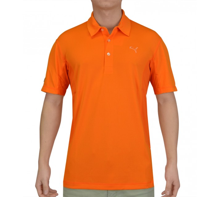 PUMA GOLF TECH POLO VIBRANT ORANGE - AW15