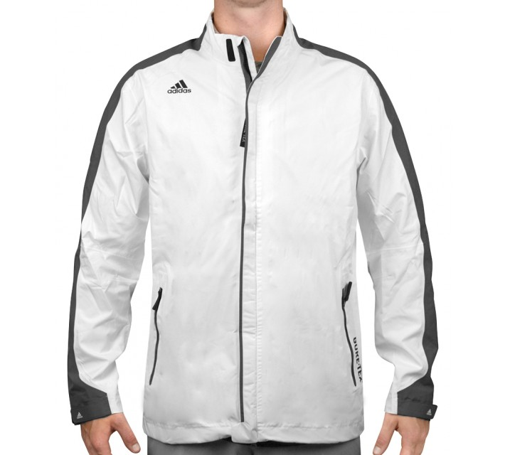 ADIDAS CLIMAPROOF GORE-TEX FULL ZIP RAIN JACKET WHITE - AW15