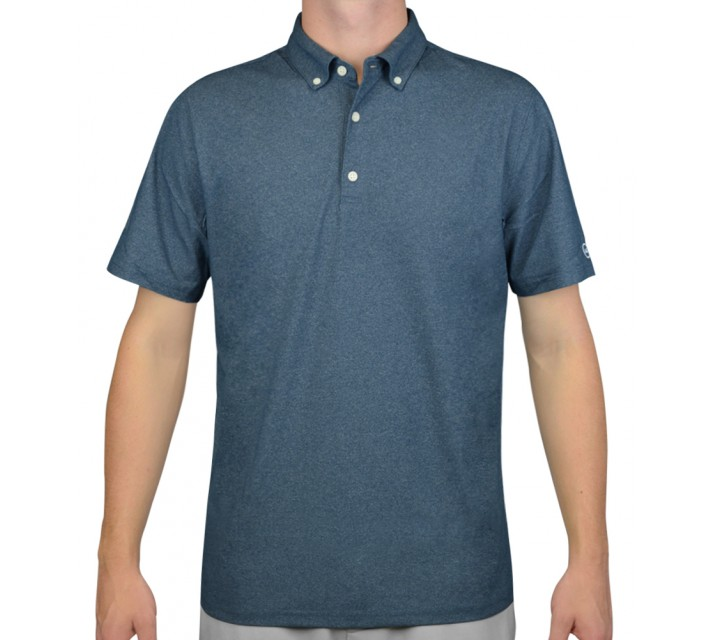 AG GREEN LABEL THE GOWER POLO POINT CONCEPTION BLUE - AW15