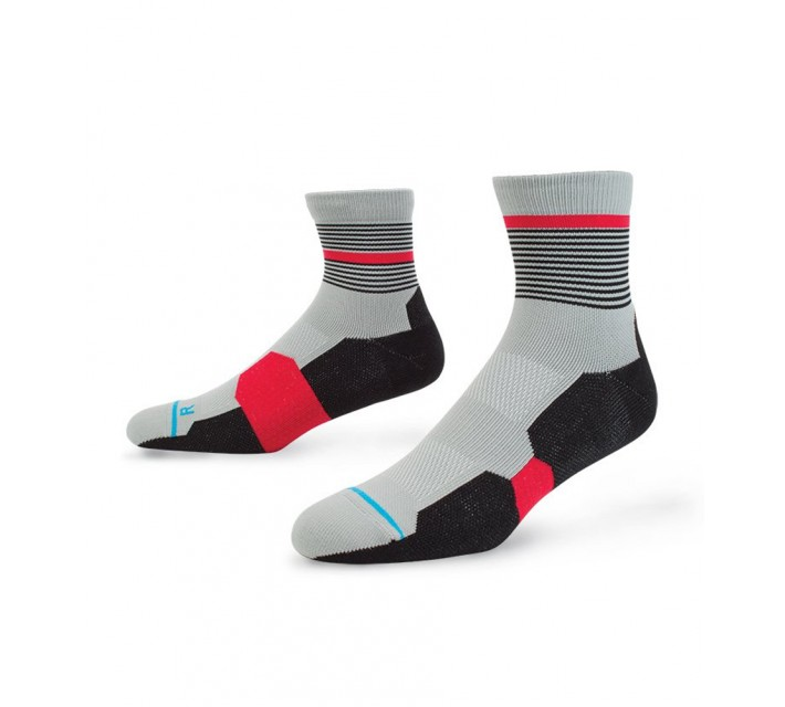 STANCE GOLF SOCKS GRADIENT QUARTER RED - SS16