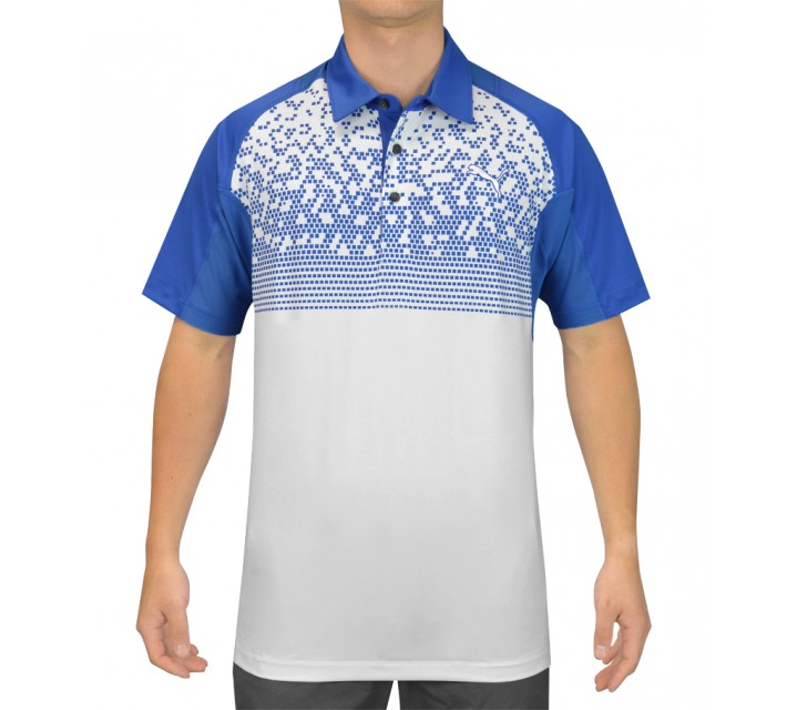 PUMA GT GRAPHIC POLO WHITE/STRONG BLUE - SS15