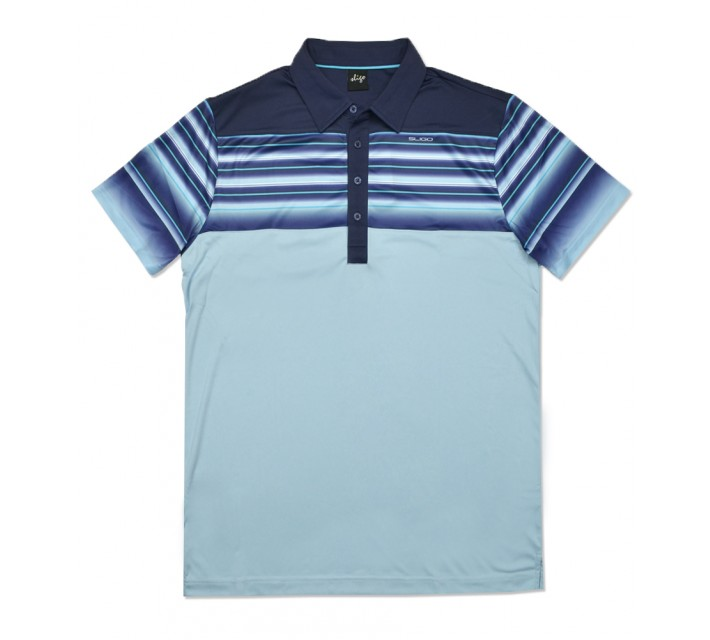 SLIGO HALTON GOLF POLO IRIDIUM BLUE - SS16