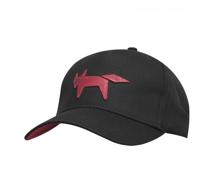 WOLSEY WOVEN BASEBALL CAP BLACK - SS15