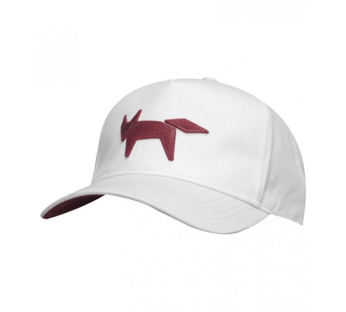 WOLSEY WOVEN BASEBALL CAP WHITE - SS15