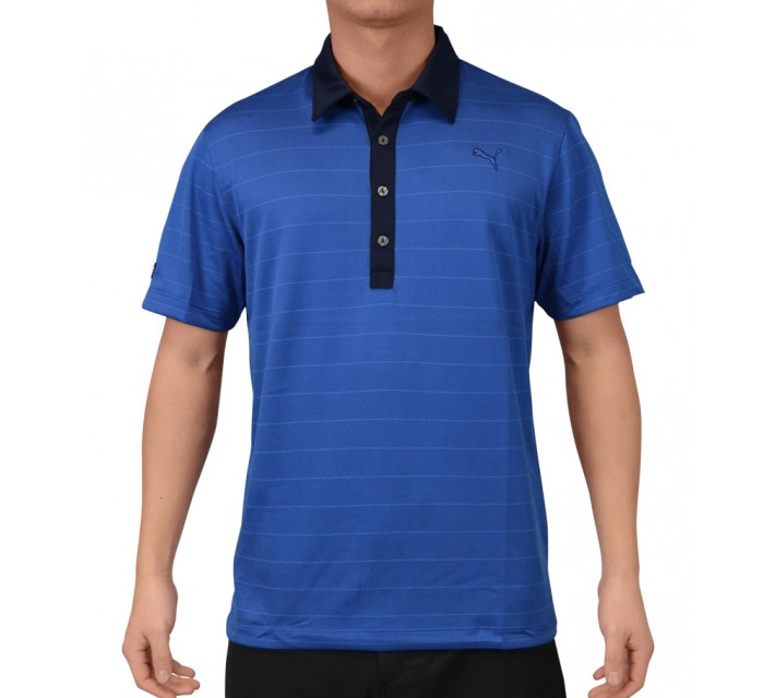 PUMA HBONE STRIPE POLO STRONG BLUE - SS15