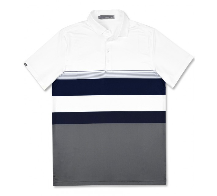 MATTE GREY HENDRICKS POLO WHITE - SS16