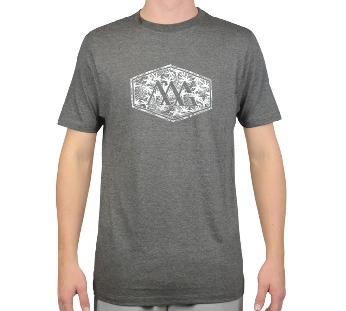 MATTE GREY HEX ALOHA T-SHIRT CHARCOAL HEATHER - AW15