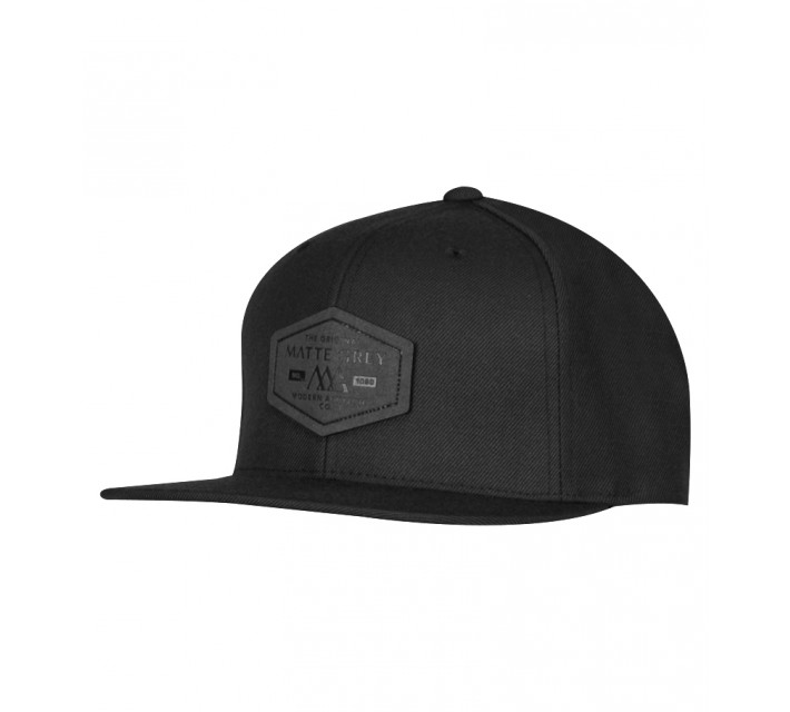 MATTE GREY HEX BADGE FITTED CAP BLACK - SS15