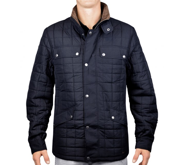 ABACUS HOLMEN QUILTED JACKET NAVY - AW15