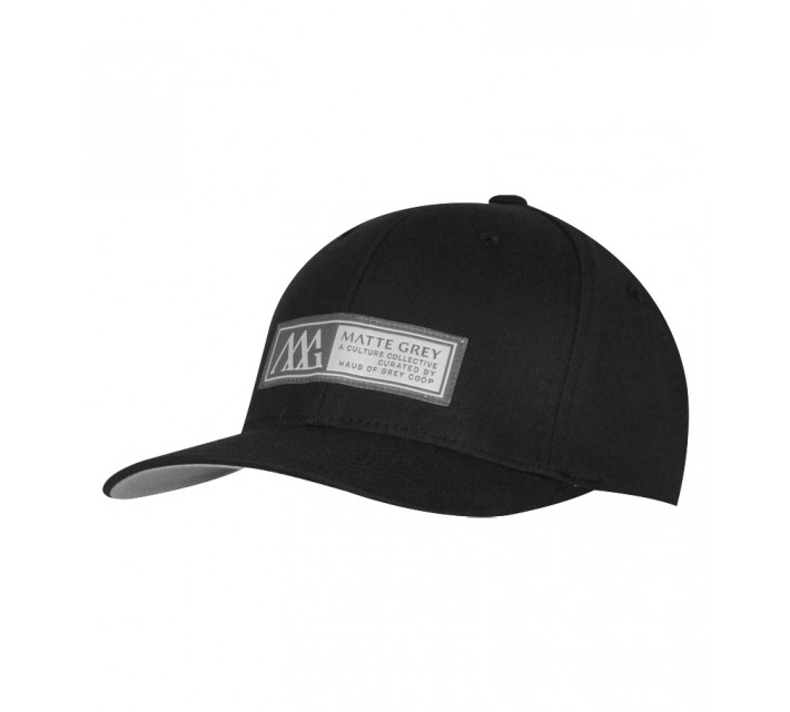 MATTE GREY HORIZON BADGE CAP BLACK - SS15
