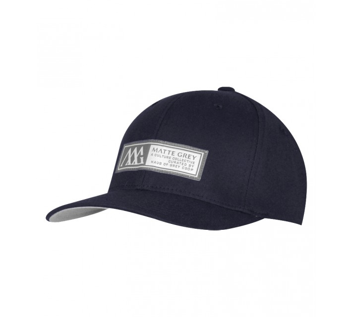 MATTE GREY HORIZON BADGE CAP INK - SS15
