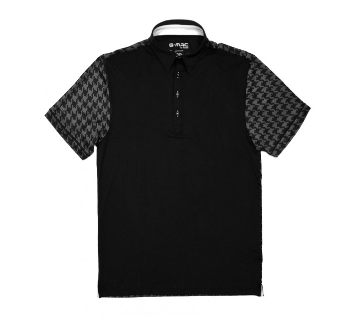 G-MAC H-TOOTH POLO BLACK - SS16