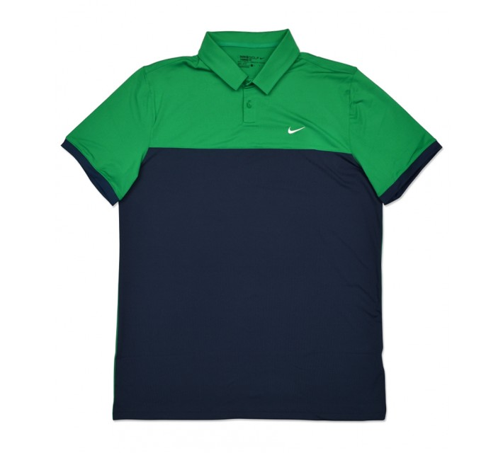 NIKE ICON COLOR BLOCK POLO LUCID GREEN/MIDNIGHT NAVY - SS16 CLOSEOUT