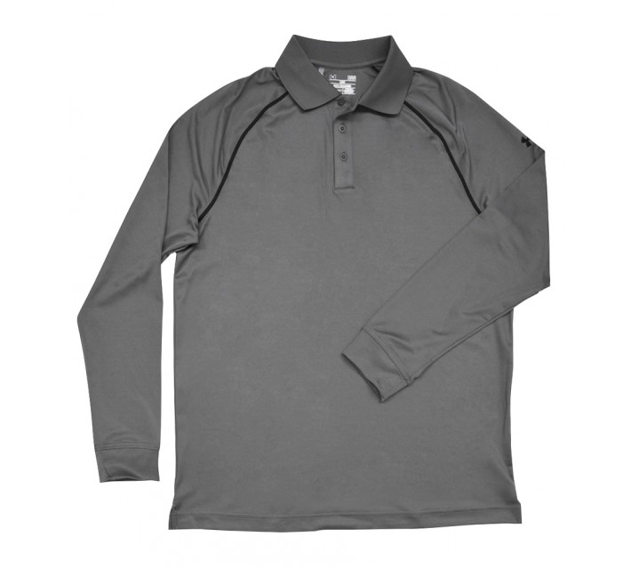 UNDER ARMOUR INTENT LONG SLEEVE POLO GRAPHITE - SS16