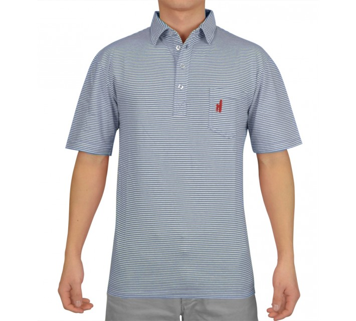 JOHNNIE-O JACK COTTON POLO VISTA BLUE - AW16