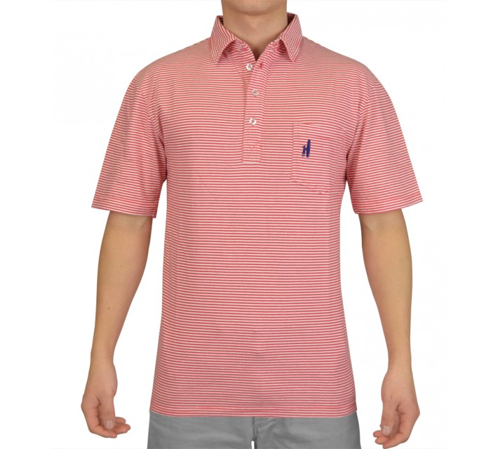 JOHNNIE-O JACK COTTON POLO WATERMELON - SS16
