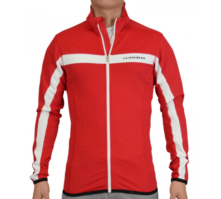 J. LINDEBERG JARVIS JACKET FIELDSENSOR RED INTENSE - SS15