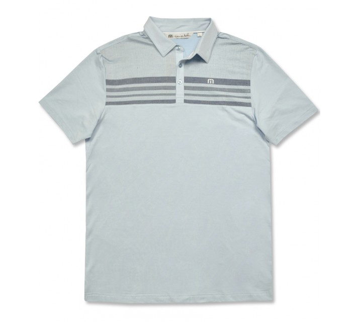TRAVISMATHEW JKG GOLF POLO ANGEL FALLS/WHITE - AW16