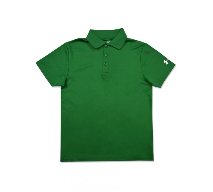 UNDER ARMOUR JUNIOR BOYS PERFORMANCE POLO TEAM KELLY GREEN - AW16