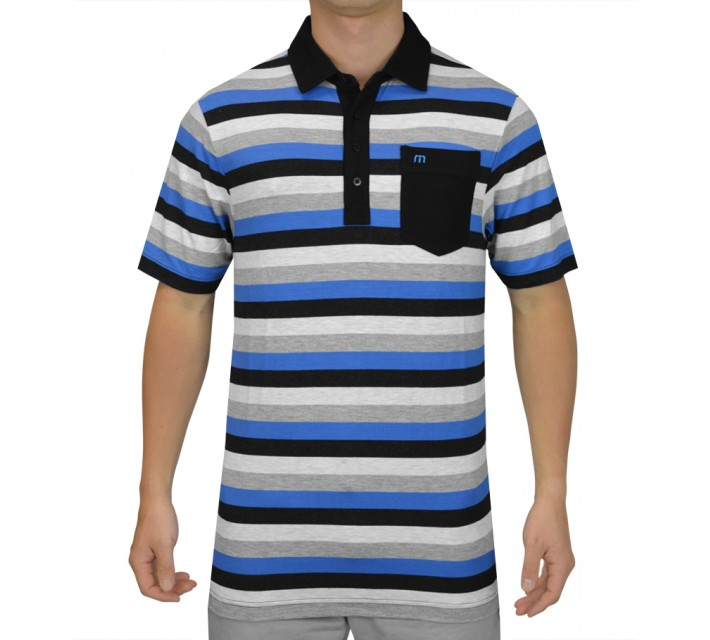TRAVISMATHEW GOLF SHIRT THE JUDGE ETHEREAL - SS15