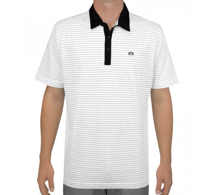 TRAVISMATHEW GOLF SHIRT KARTCH WHITE - AW15