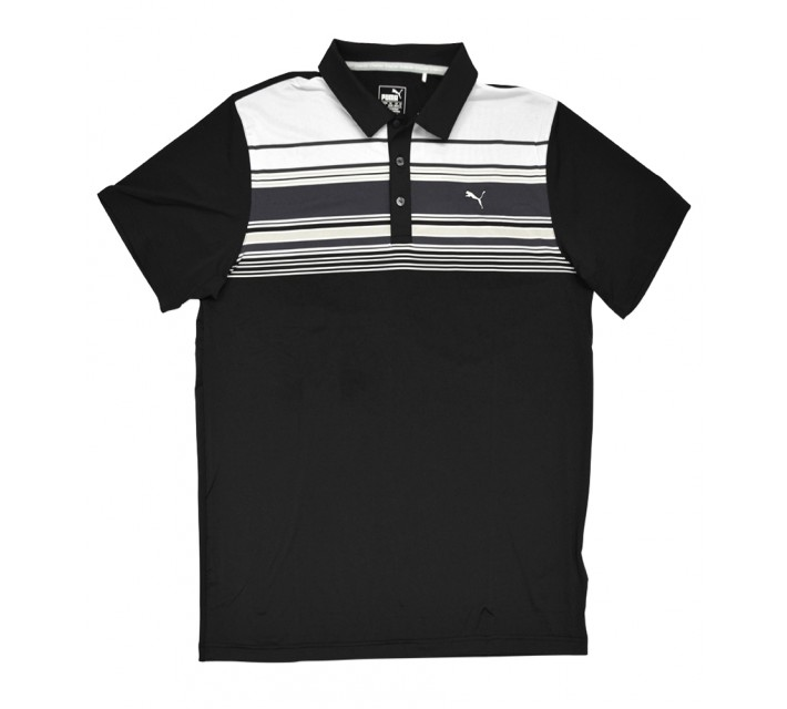 PUMA KEY STRIPE POLO PUMA BLACK - SS16
