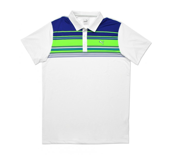 PUMA KEY STRIPE POLO BRIGHT WHITE - SS16