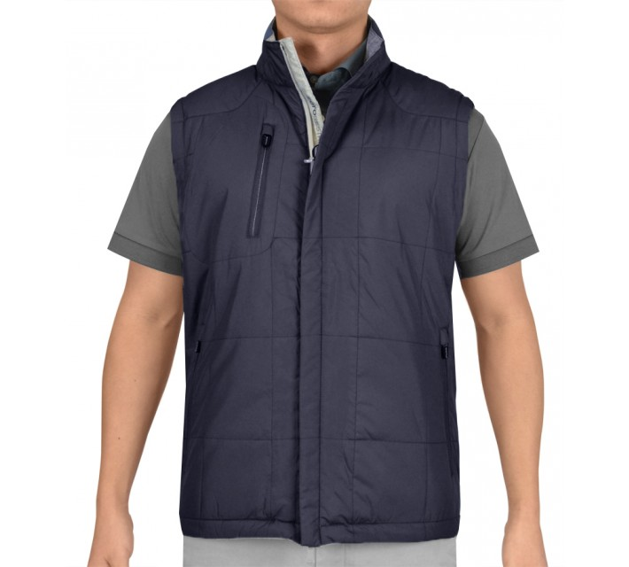 ZERO RESTRICTION KIELY REVERSIBLE VEST BLUE INDIGO - AW15