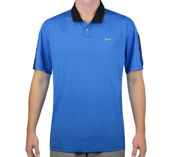 TIGER WOODS KIMONO BODY MAP POLO PHOTO BLUE - AW15 CLOSEOUT