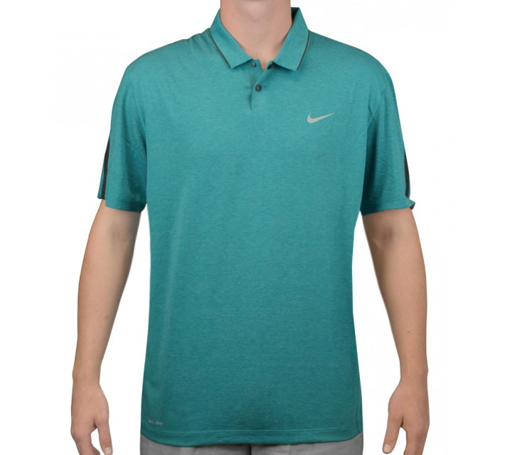 TIGER WOODS KIMONO HEATHER MESH POLO RADIANT EMERALD - AW15 CLOSEOUT