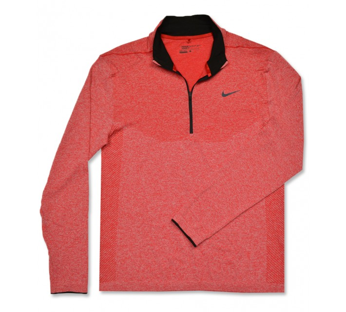 NIKE GOLF DRI-FIT KNIT 1/2-ZIP PULLOVER UNIVERSITY RED - AW16