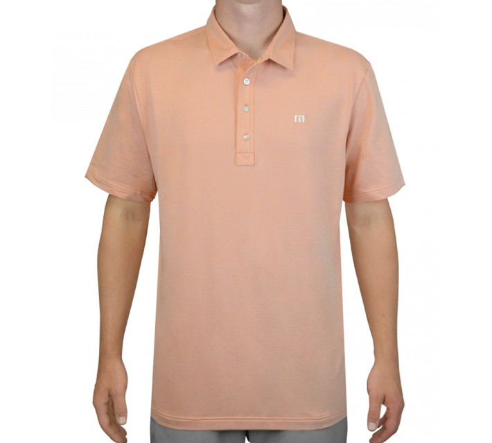 TRAVISMATHEW GOLF SHIRT KRUGER PERSIMMON - AW15