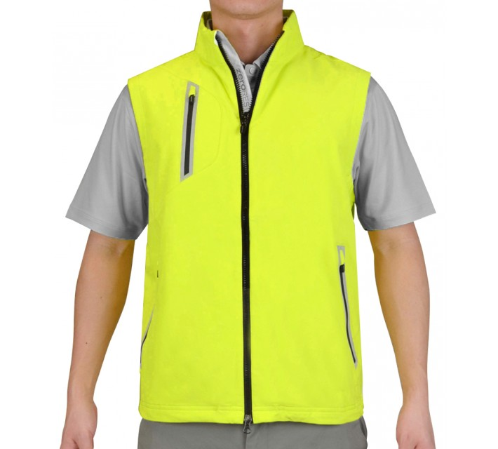 ZERO RESTRICTION ZIPFRONT VEST CHARTREUSE - SS15